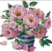 Dimensions 03234 Roses in Striped vase